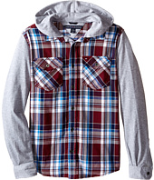 Tommy Hilfiger Kids - Kelsey Hooded Long Sleeve Woven Shirt (Big Kids)