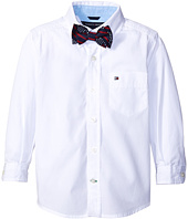 Tommy Hilfiger Kids - Kramer Long Sleeve Shirt with Bow Tie (Toddler/Little Kids)