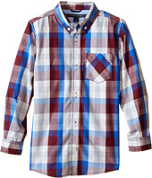 Tommy Hilfiger Kids - Morgan Woven Long Sleeve Shirt (Toddler/Little Kids)