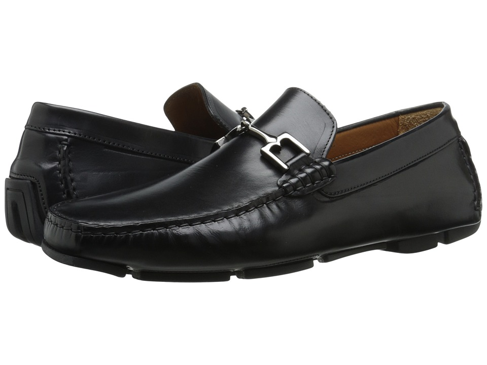 Bruno Magli Monza Black Leather Mens Shoes