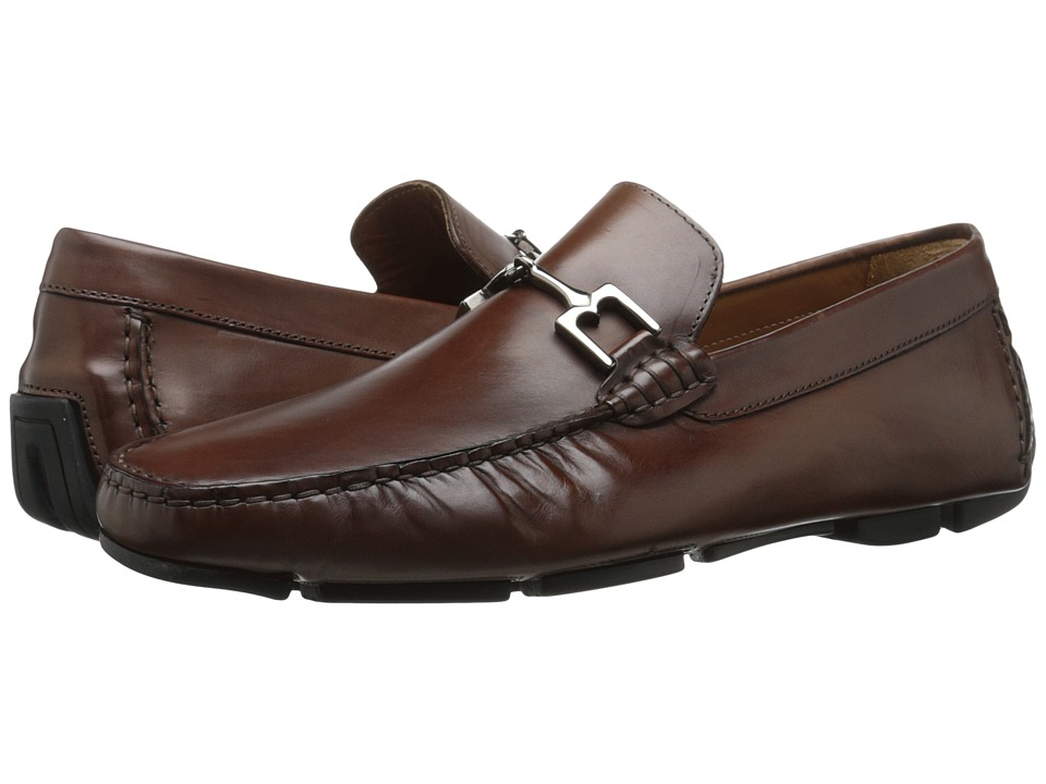 Bruno Magli Monza Cognac Leather Mens Shoes