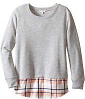 Splendid Littles - French Terry Long Sleeve with Yarn-Dye Plaid Tail Top (Big Kids)
