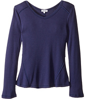 Splendid Littles - Long Sleeve Thermal V-Neck Top (Big Kids)