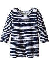 Splendid Littles - Printed Stripe Loose Knit Top (Big Kids)