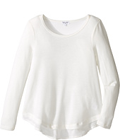 Splendid Littles - Loose Knit Long Sleeve with Chiffon Top (Big Kids)