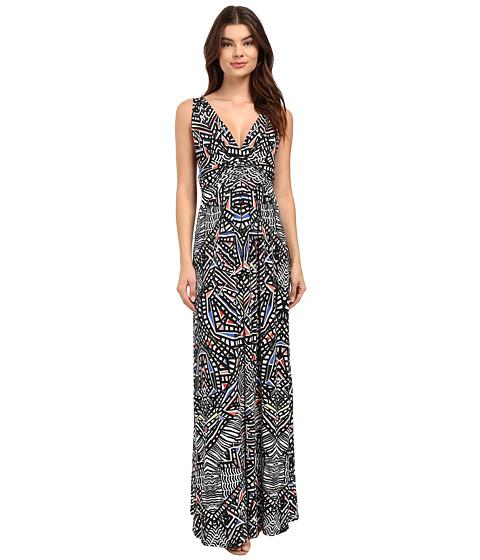 Tart - Adrianna Maxi (Ink Geometric) Women's Dress