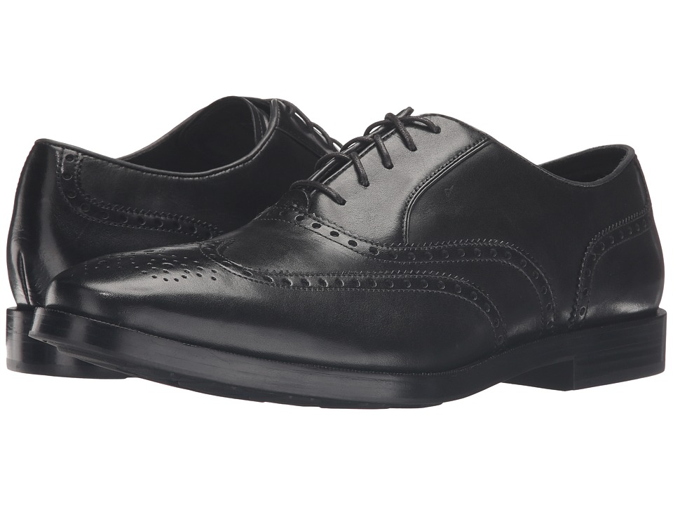Cole Haan - Hamilton Grand Wing Oxford (Black) Mens Lace up casual Shoes