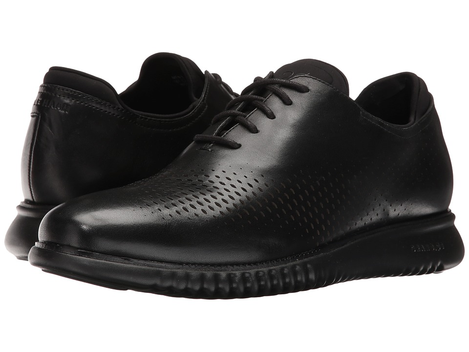 Cole Haan 2.0 Grand Laser Wing Oxford (Black Leather/Black) Men