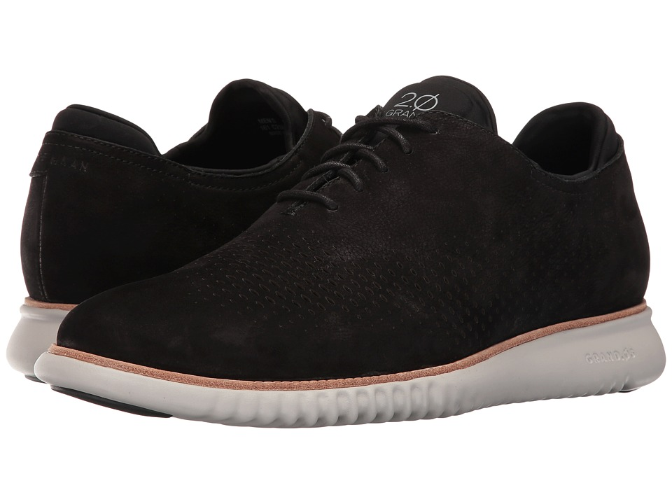 Cole Haan 2.0 Grand Laser Wing Oxford (Black Nubuck/Grey) Men