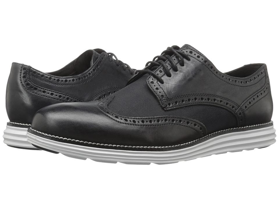 Cole Haan - Original Grand Wing Oxford (Black Leather/Textile/Vapor Blue) Men