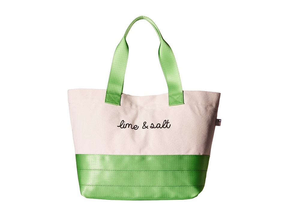 Harveys Seatbelt Bag Beach Tote Lime and Salt Tote Handbags