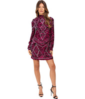 Just Cavalli - Zebra Kiss Print Long Sleeve Dress
