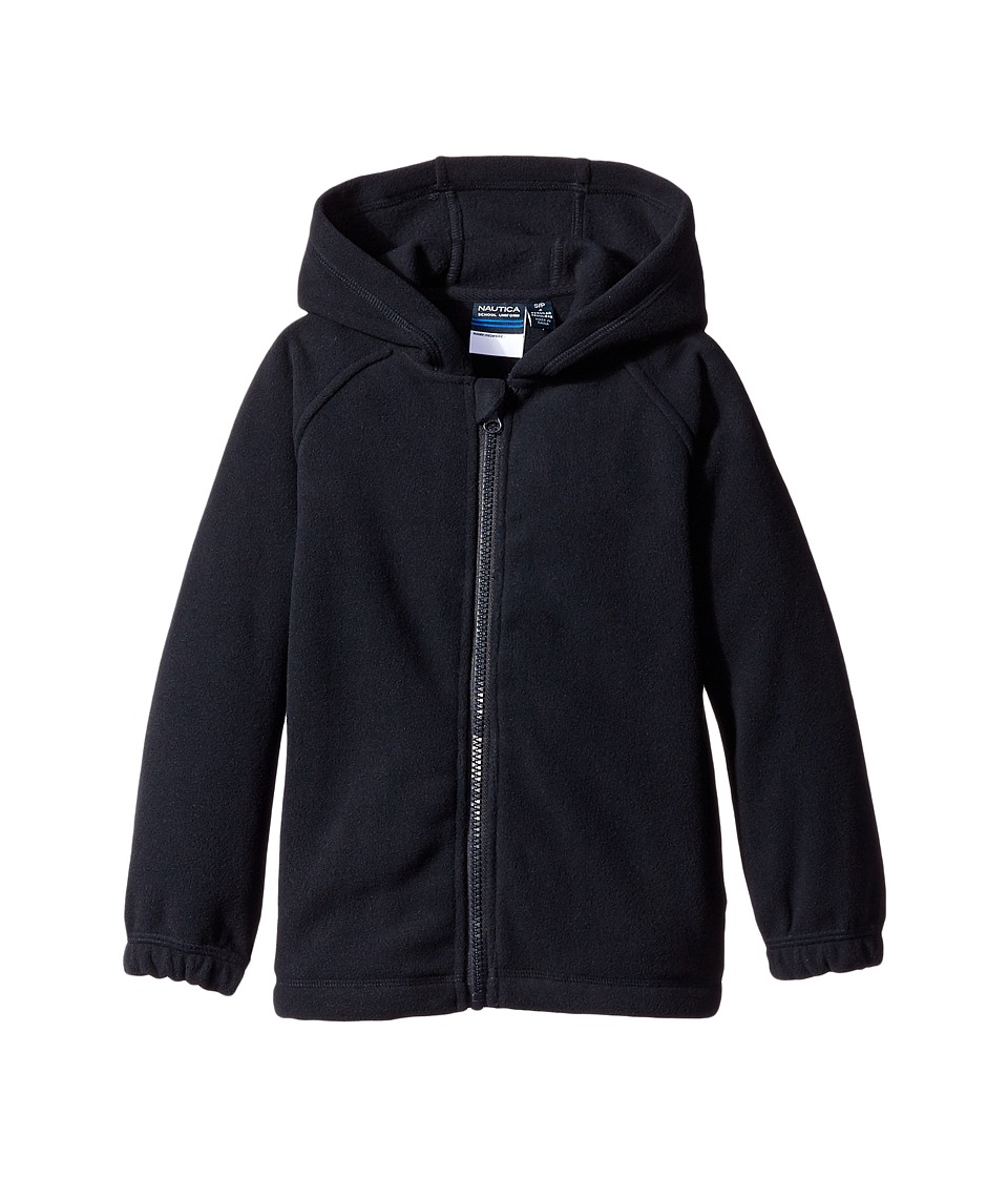 Nautica Kids - Polar Fleece Jacket w/ Hood (Big Kids) (Navy) Boys Coat