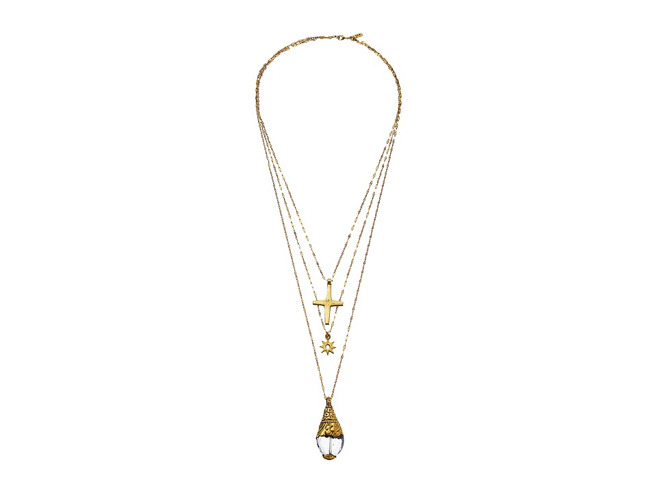 Vanessa Mooney The Kiss Necklace Gold Necklace