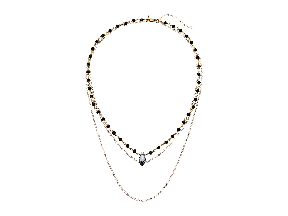 Vanessa Mooney The Loverly Triple Chain Choker Necklace Gold Necklace