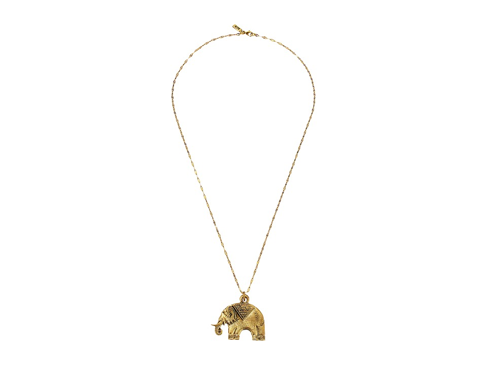 Vanessa Mooney The Elephant Necklace Gold Necklace