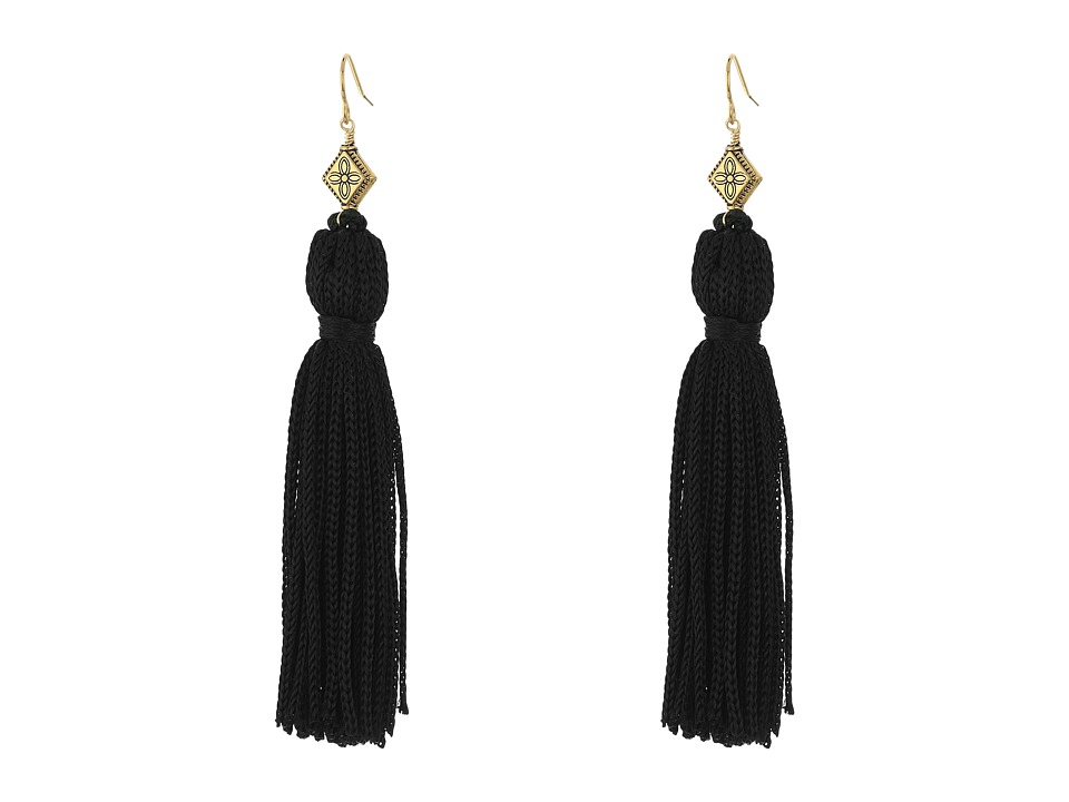 Vanessa Mooney The Elton Tassel Earrings Black/Gold Earring