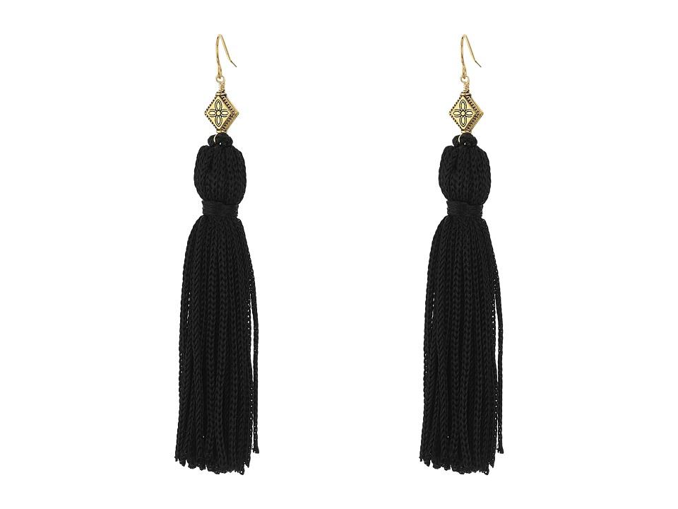 Vanessa Mooney The Elton Tassel Earrings Black/Gold Earring