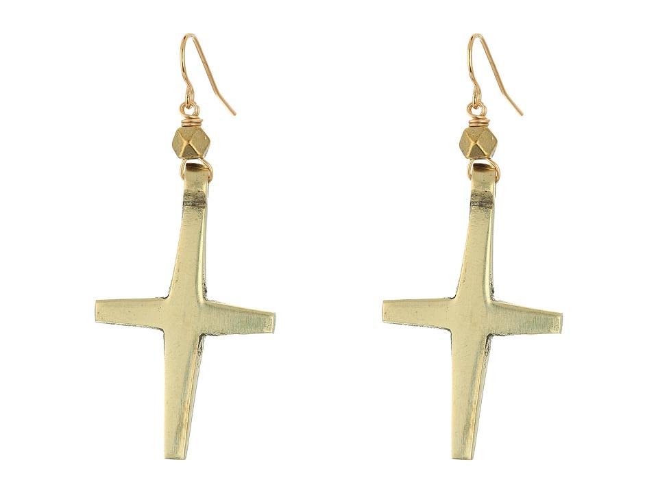 Vanessa Mooney The Nation Cross Earrings Gold Earring