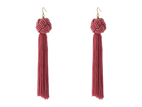 Vanessa Mooney Astrid Knotted Tassel Earrings - Pink