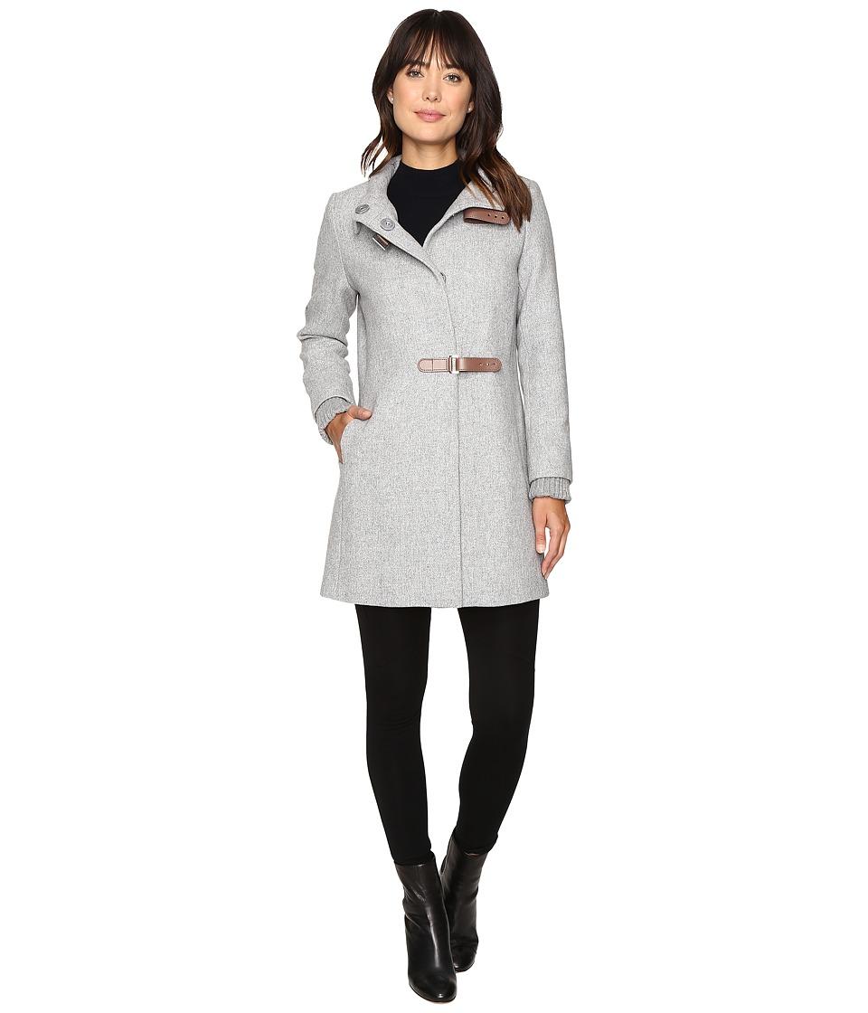 Ralph Lauren Basket Weave Novelty (Grey) Women's Coat