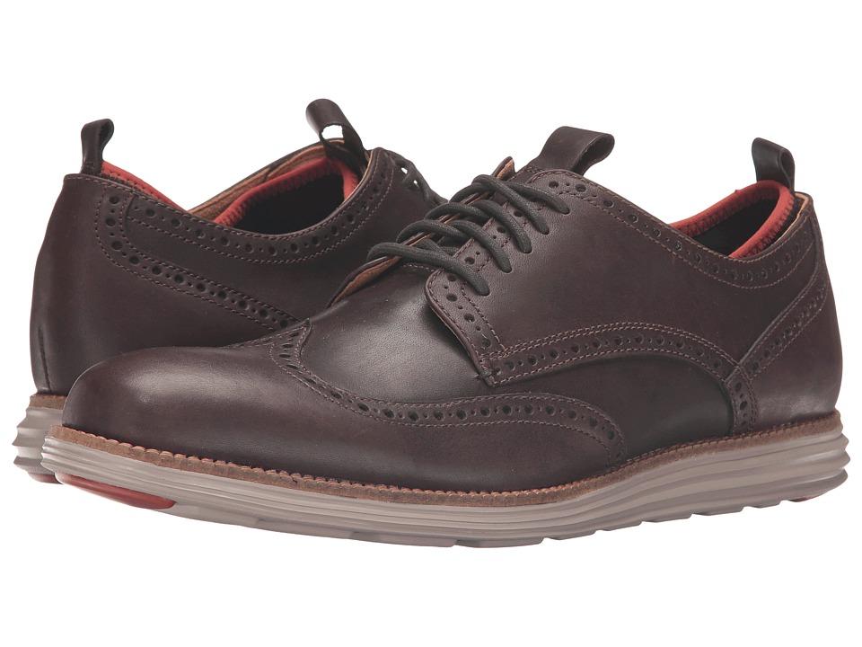 Cole Haan - Original Grand Neoprene Lined Wing Oxford (Chestnut Leather/Dark Roast Knit/Cobblestone) Men