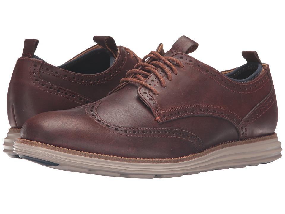 Cole Haan - Original Grand Neoprene Lined Wing Oxford (Harvest Brown/Cobblestone Knit/Cobblestone) Men