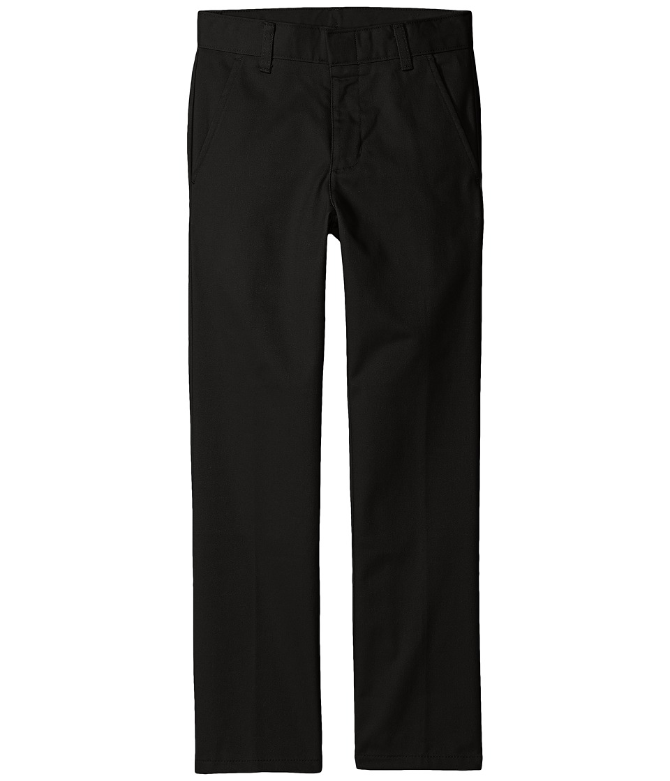 Nautica Kids - Regular Fit Flat Front Pants (Big Kids) (Black) Boys Casual Pants
