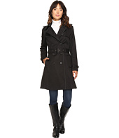 LAUREN Ralph Lauren - Double-Breasted Trench w/Faux Leather Trim