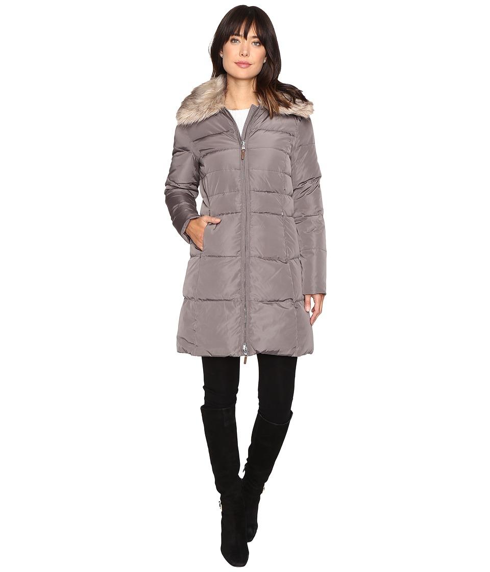 LAUREN Ralph Lauren Faux Fur Collar Down (Flannel) Women