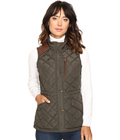 LAUREN Ralph Lauren - Faux Leather Trim Quilted Vest