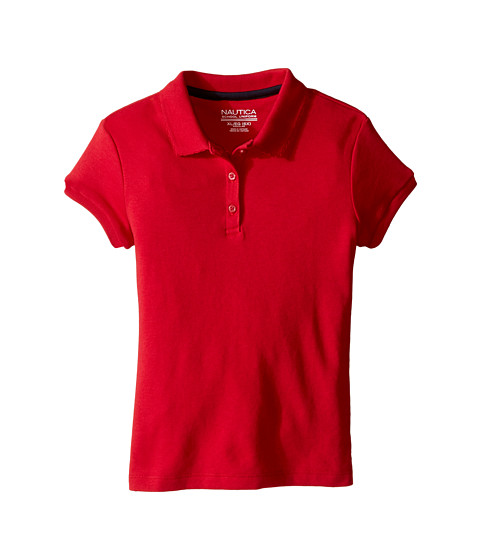 Nautica Kids Short Sleeve Polo with Picot Stitch Collar (Little Kids)