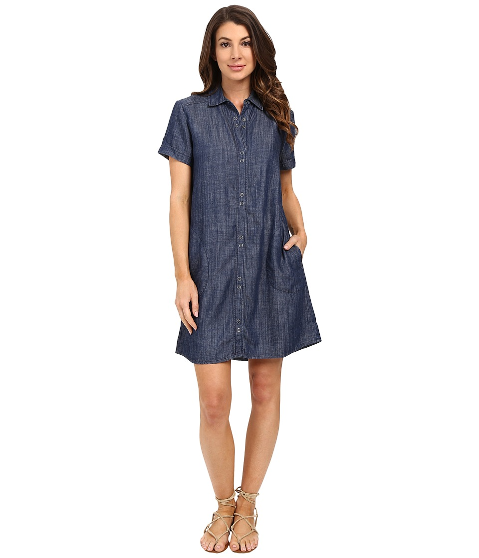 Lilla P Chambray Short Sleeve Shirtdress Chambray Womens Dress