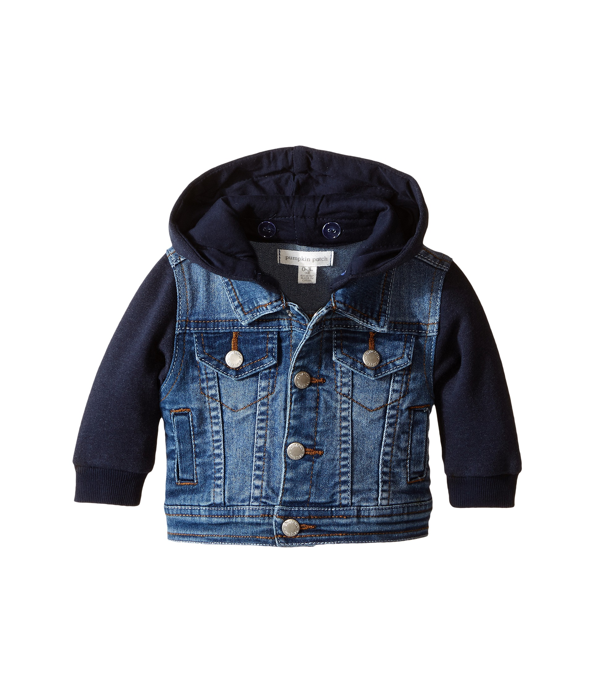 Denim Jacket Knitting Pattern : Pumpkin Patch Kids Knit Denim Jacket (Infant) Denim - Zappos.com Free Shippin...