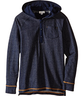 Pumpkin Patch Kids - Raglan Denim Knit Hoodie (Little Kids/Big Kids)