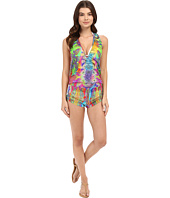Luli Fama - Barefoot & Free T-Back Romper Cover-Up