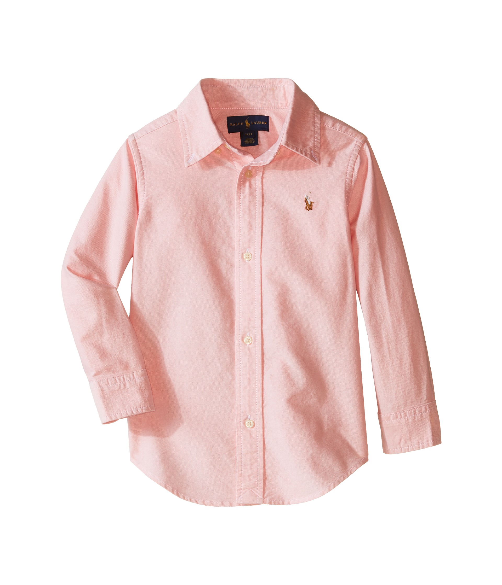 Polo ralph lauren kids solid oxford shirt toddler pink for Baby pink polo shirt