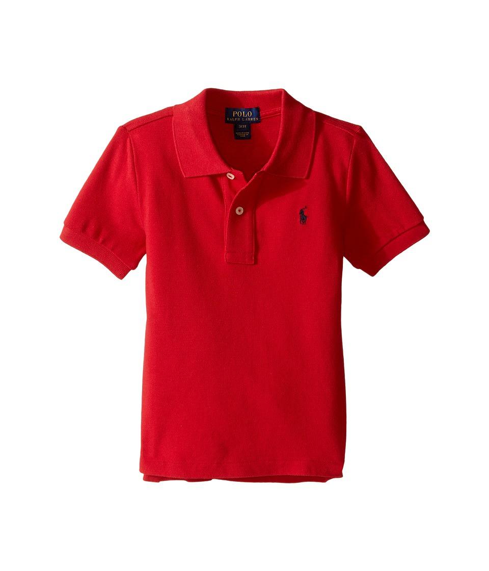 Polo Ralph Lauren Kids - Basic Mesh Polo (Toddler) (New Red) Boys Short Sleeve Knit