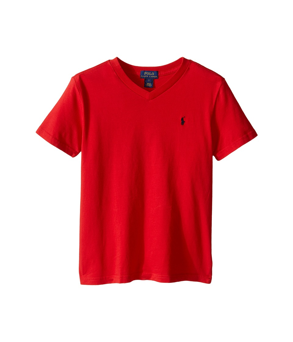 Polo Ralph Lauren Kids - 20/1s Jersey V-Neck Tee (Little Kids/Big Kids) (RL 2000 Red) Boys T Shirt