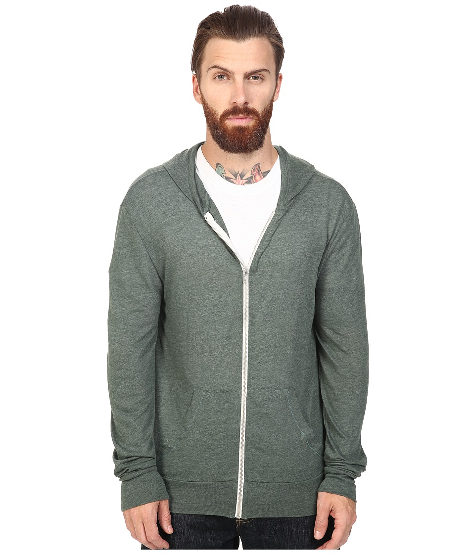 Alternative - L/S Zip Hoodie (Eco True Dusty Pine) Mens Sweatshirt