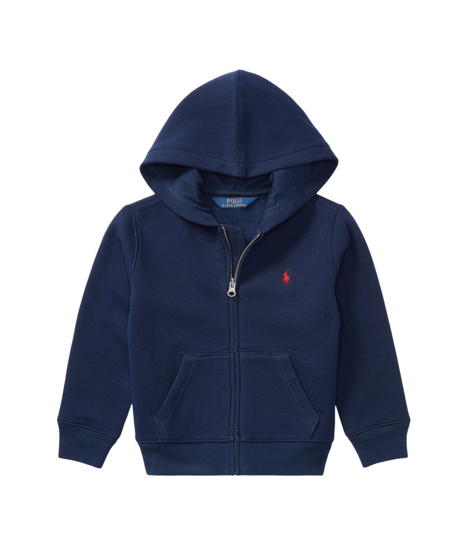 Polo Ralph Lauren Kids - Collection Fleece Full-Zip Hoodie (Little Kids) (Cruise Navy) Boys Fleece