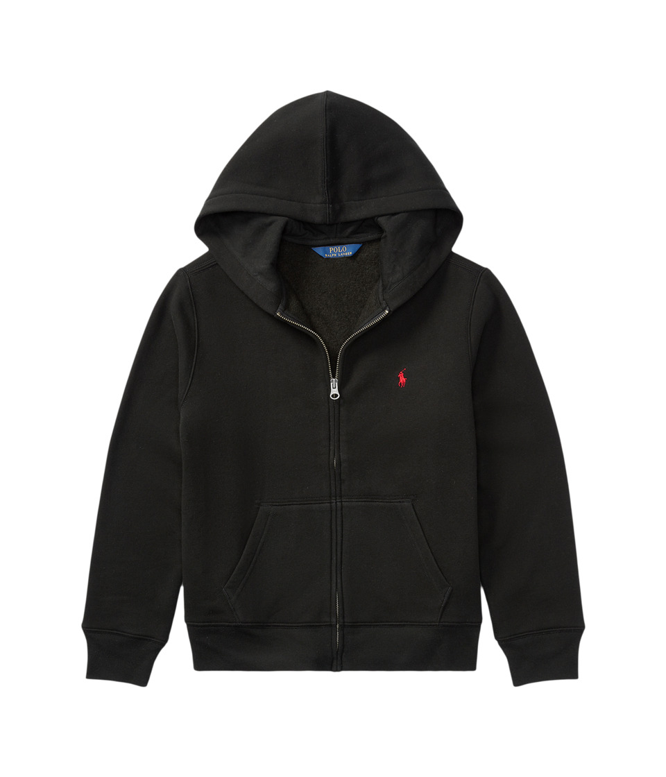 Polo Ralph Lauren Kids - Collection Fleece Full-Zip Hoodie (Big Kids) (Polo Black) Boys Fleece