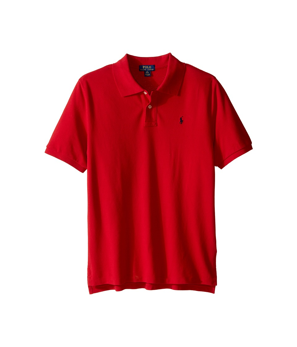 Polo Ralph Lauren Kids - Basic Mesh Polo (Big Kids) (New Red) Boys Short Sleeve Knit