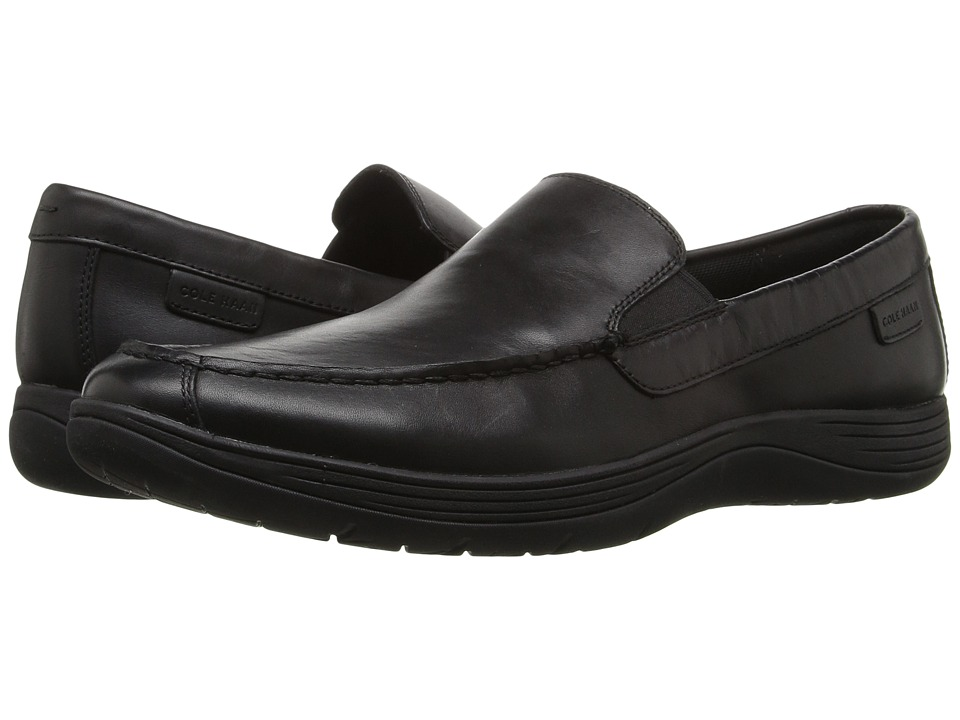 Cole Haan Lewiston Venetian (Black/Black) Men