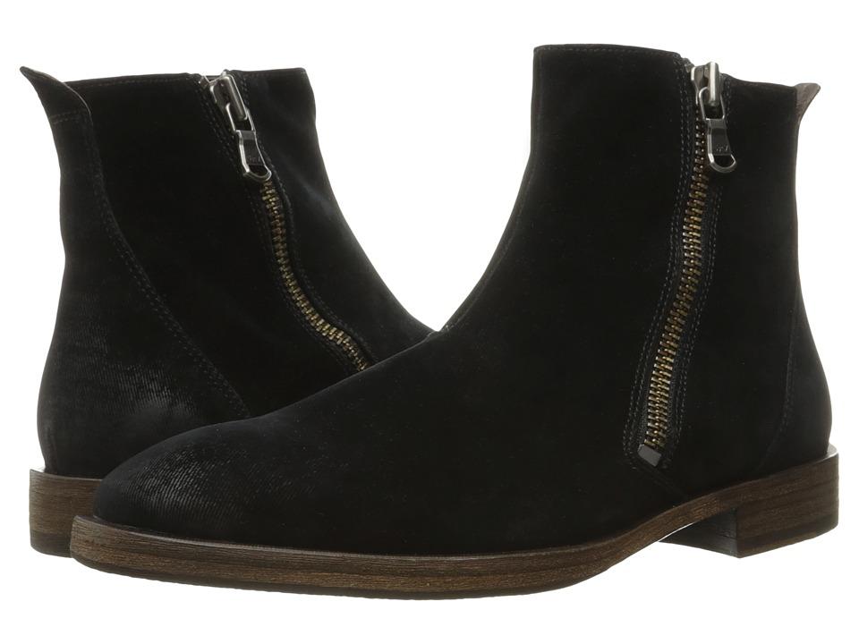 John Varvatos Mitchell Zip Boot (Black) Men