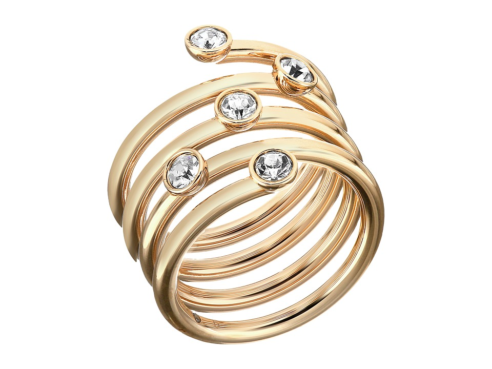 Michael Kors Brilliance Ring Gold/Clear 2 Ring