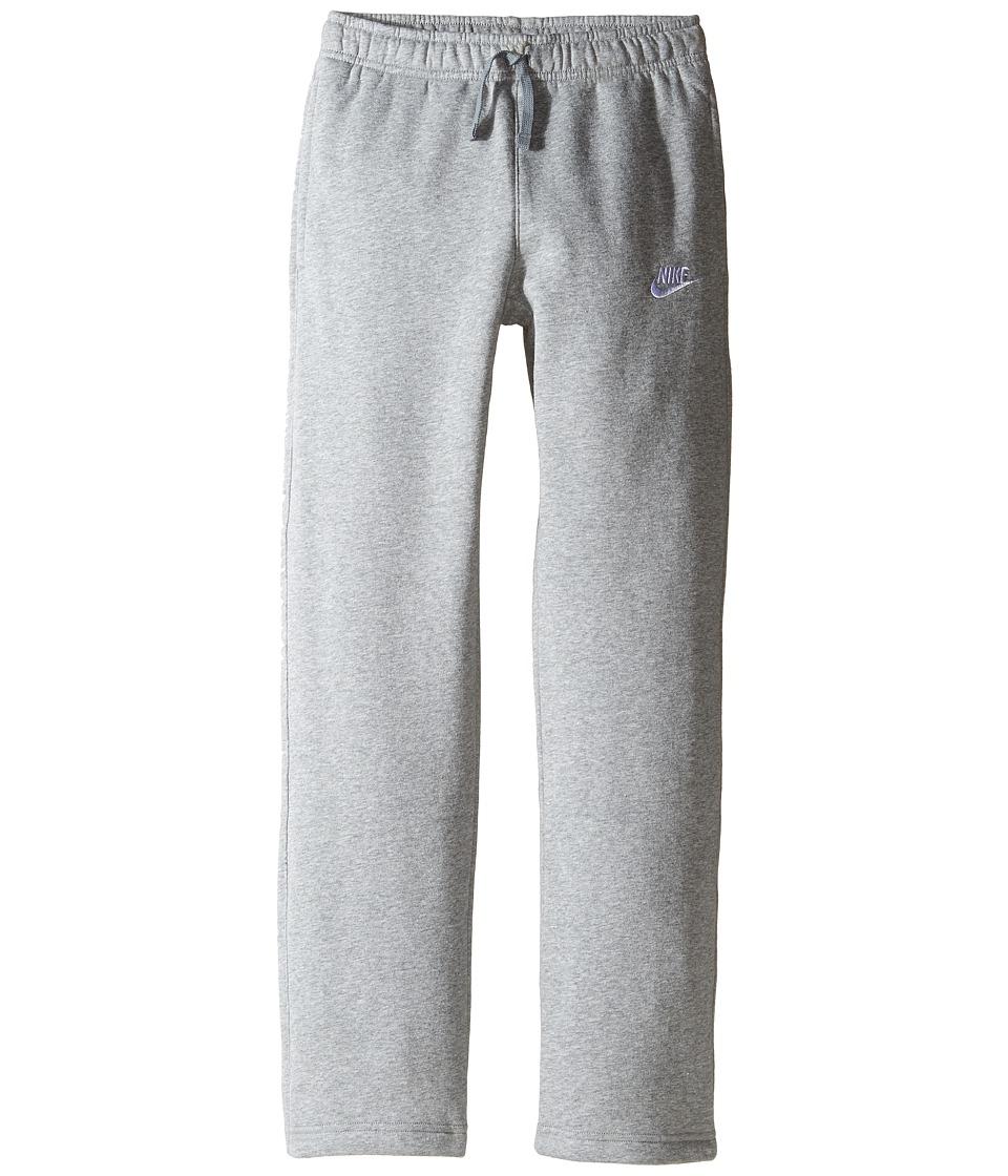Nike Kids - Sportswear Open Hem Pant (Little Kids/Big Kids) (Dark Grey Heather/Dark Steel Grey/White) Boys Casual Pants