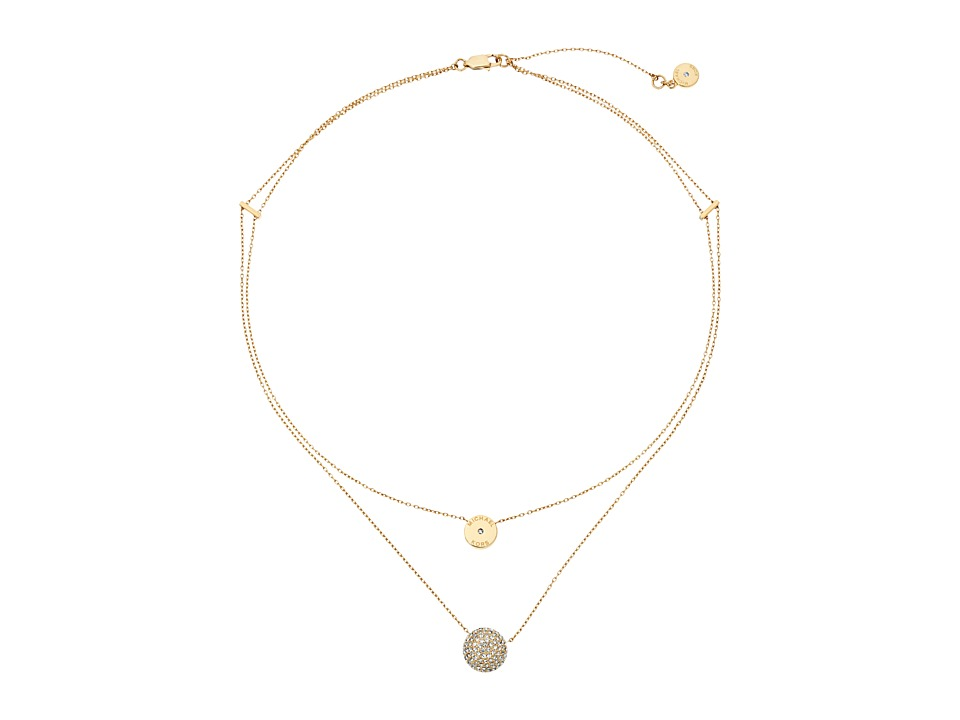Michael Kors Brilliance Necklace Gold/Clear 1 Necklace