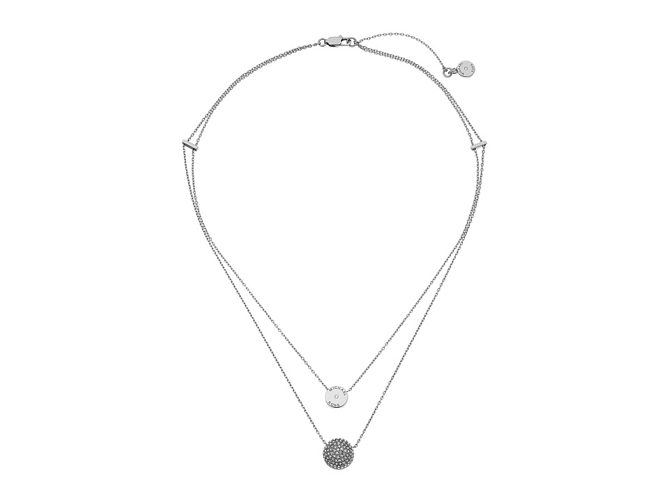 Michael Kors Brilliance Necklace Silver/Clear 1 Necklace