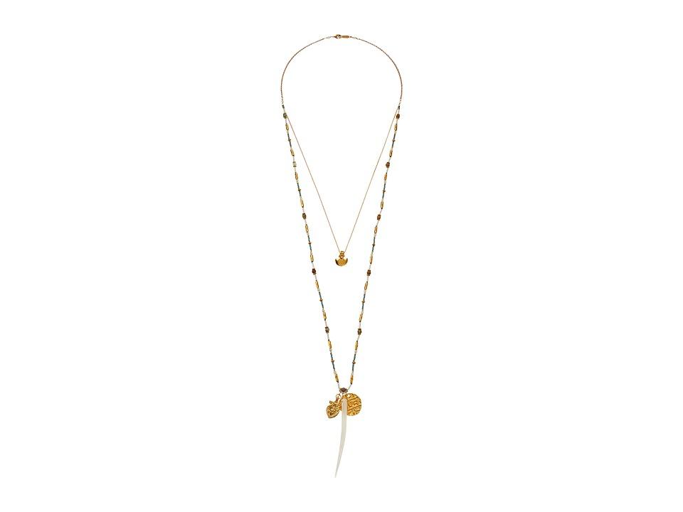 Chan Luu 24 Aqua Mix Necklace with Charms Aqua Mix Necklace